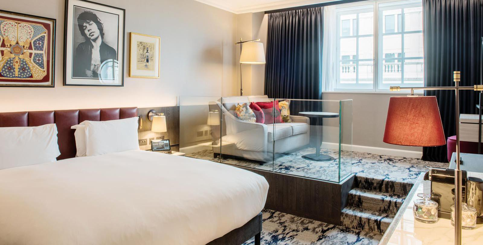 Image of Guestroom at The Trafalgar St. James London, Curio Collection by Hilton, 18th Century, Member of Historic Hotels Worldwide, in London, England, United Kingdom, Location Map