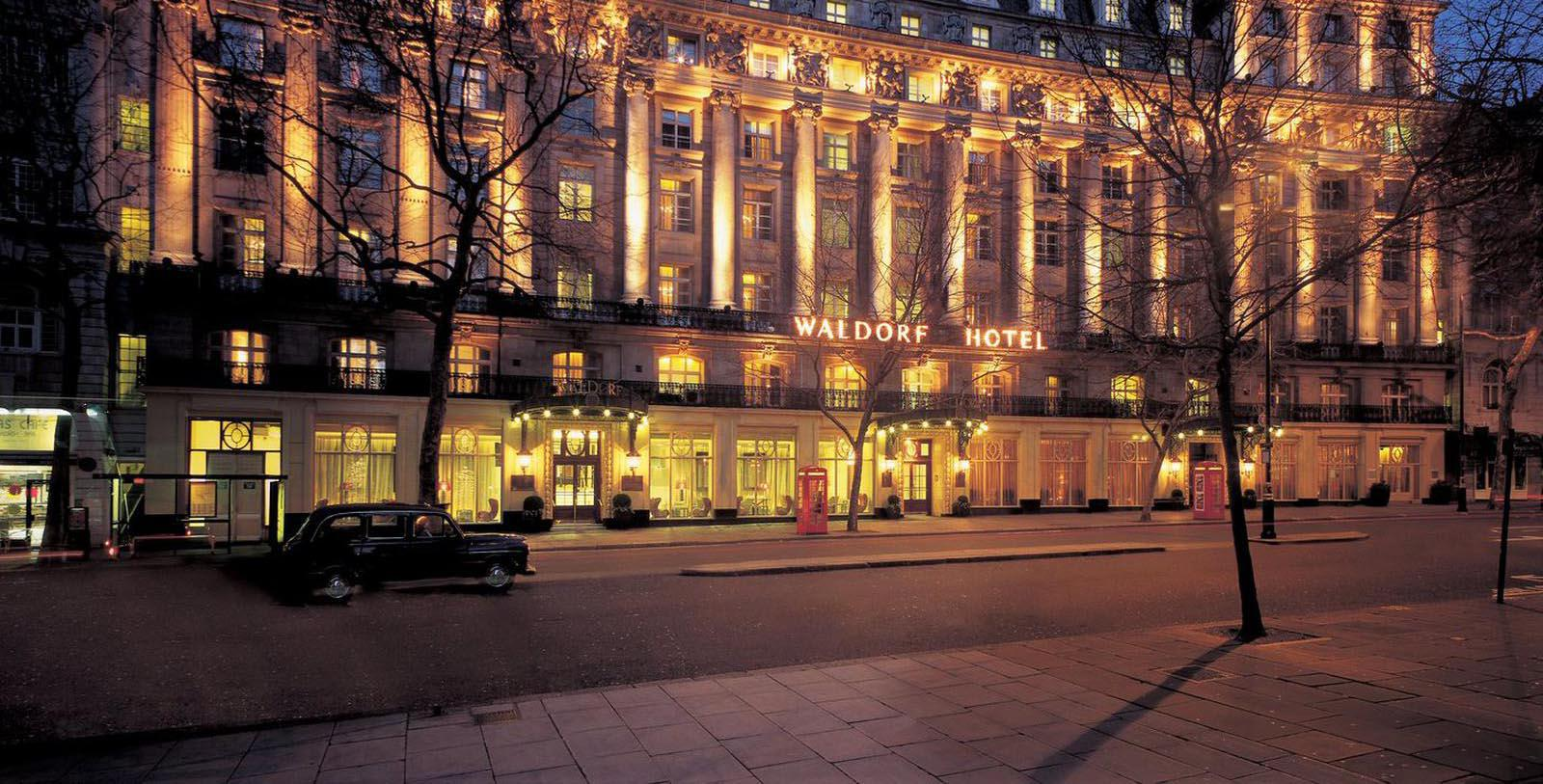 Image of Hotel Façade The Waldorf Hilton, London, 1908, Member of Historic Hotels Worldwide, in London, England, United Kingdom, Overview