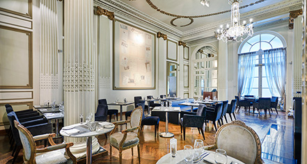 Dining at      The Waldorf Hilton, London  in London