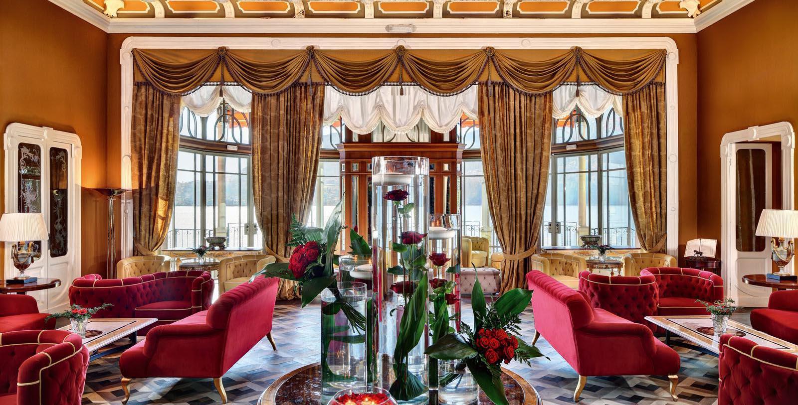Image of Lobby Seating, Grand Hotel Tremezzo, Lake Como, Italy, 1910, Member of Historic Hotels Worldwide, Experience