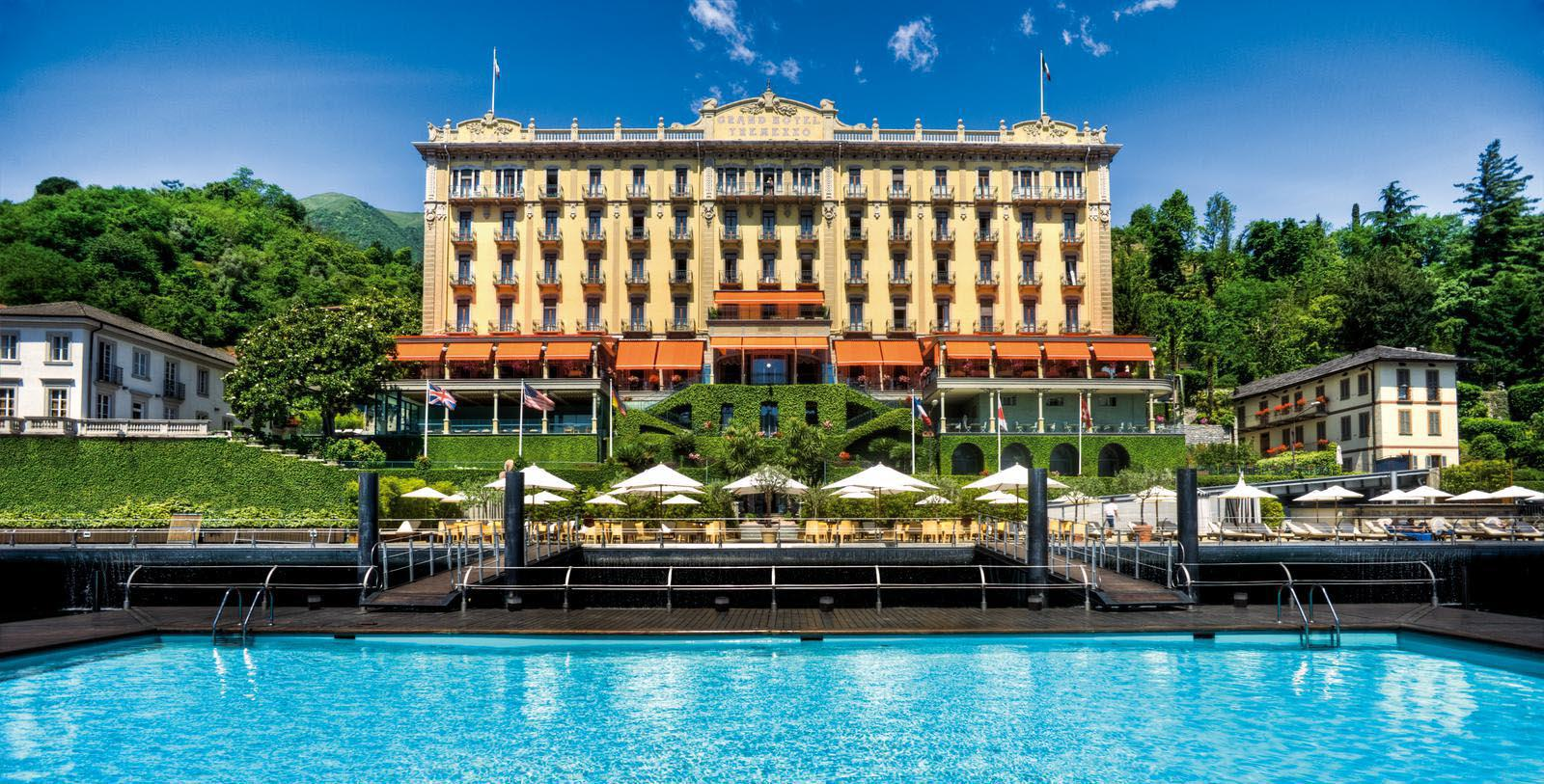 Image of Hotel Exterior & Outdoor Pool, Grand Hotel Tremezzo, Lake Como, Italy, 1910, Member of Historic Hotels Worldwide, Overview