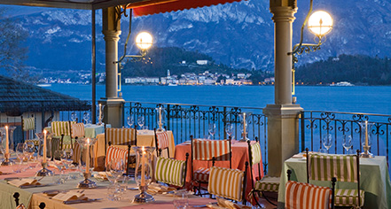 Dining at      Grand Hotel Tremezzo  in Lake Como Tremezzo