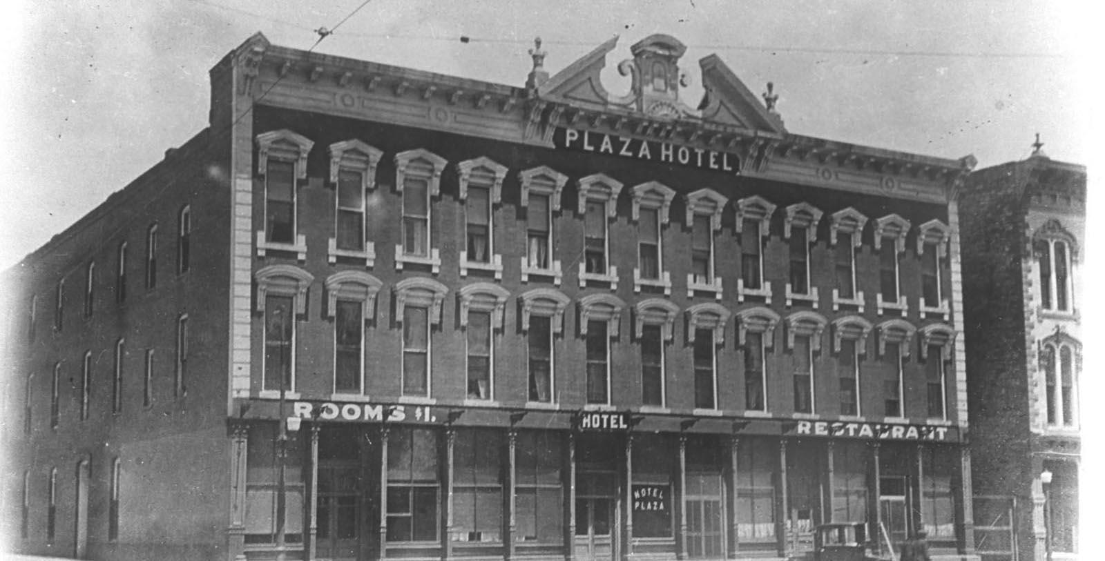 Historic Exterior Image Plaza Hotel 1882, 1882, Member of Historic Hotels of America, in Las Vegas, New Mexico, Discover