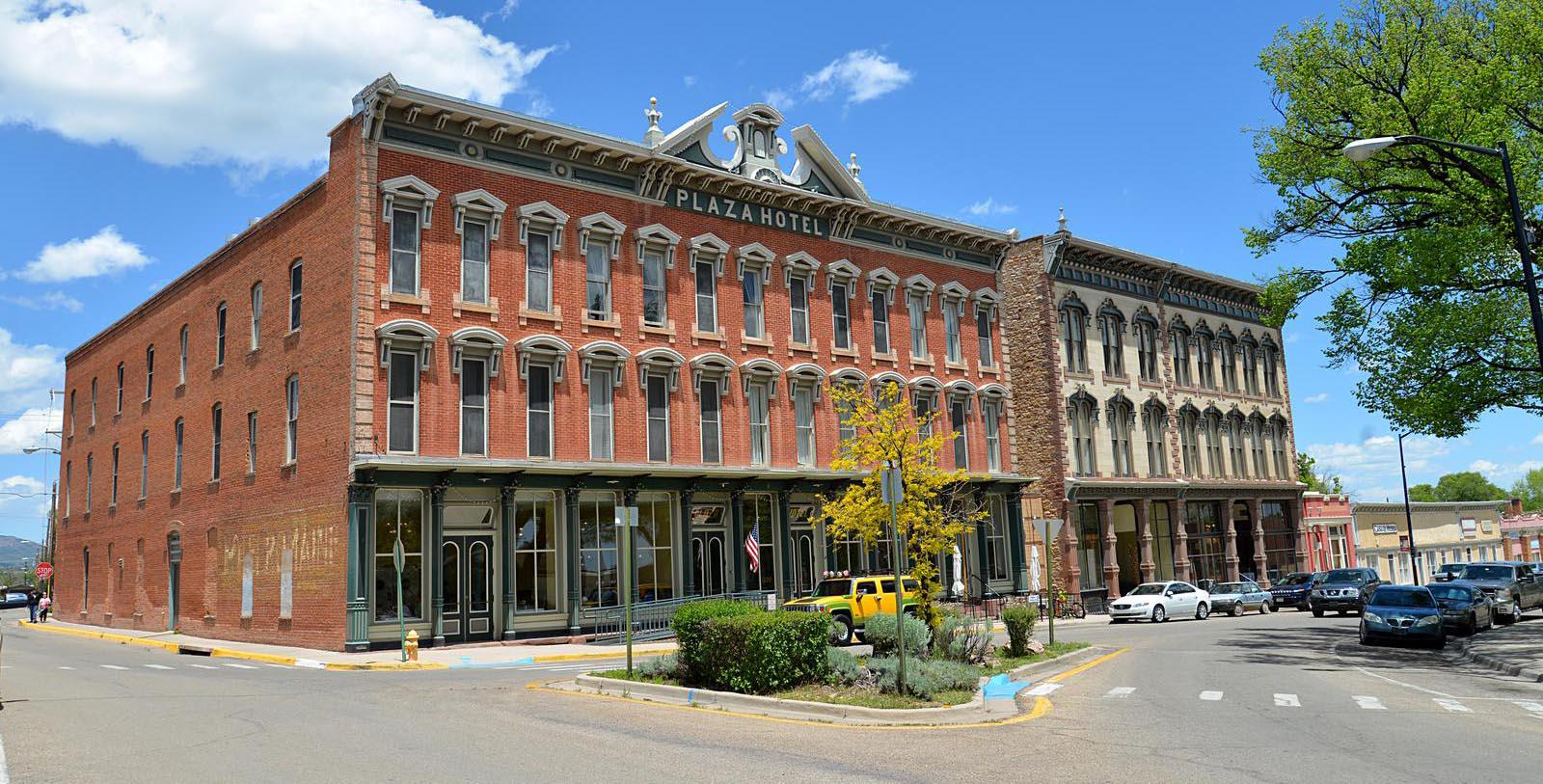 Image of Exterior Plaza Hotel 1882, 1882, Member of Historic Hotels of America, in Las Vegas, New Mexico, Explore