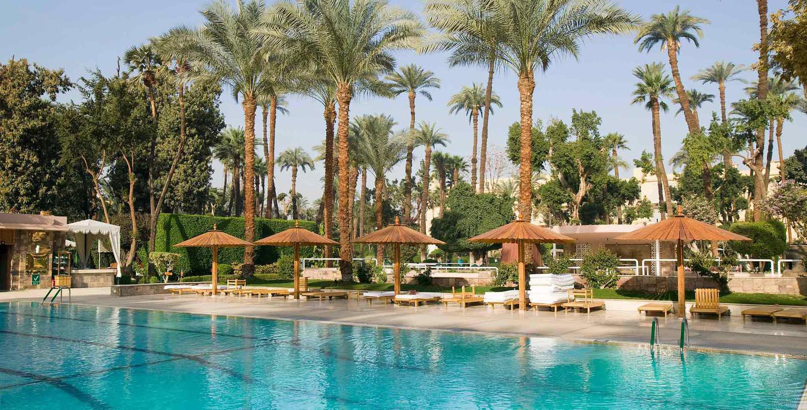 Image of Outdoor Pool at Sofitel Winter Palace Luxor, 1886, Member of Historic Hotels Worldwide, in Luxor, Egypt, Explore