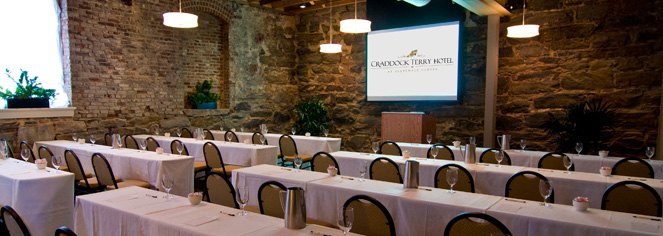 Meetings at      The Craddock Terry Hotel  in Lynchburg