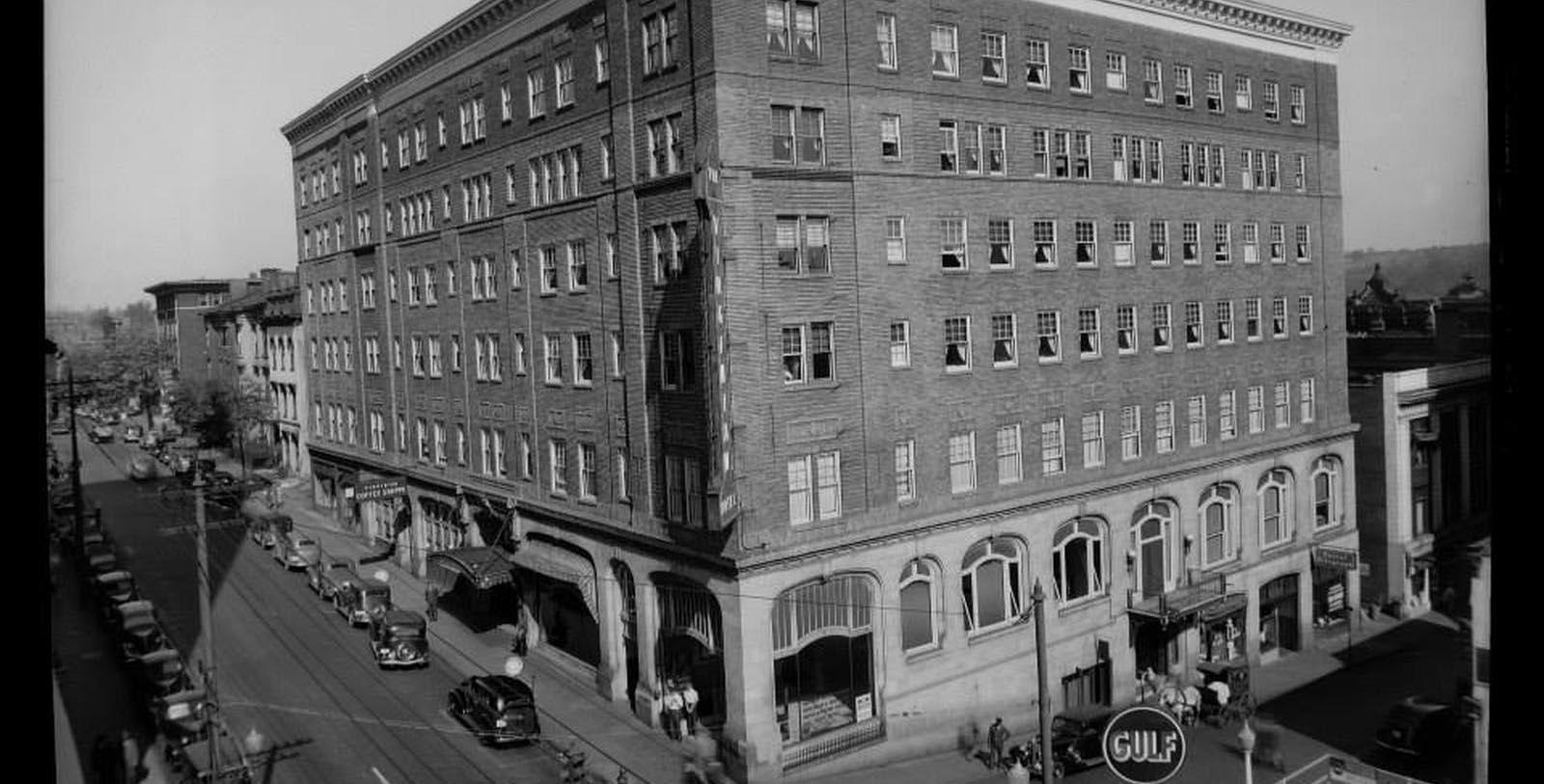 Historic Image of Hotel Exterior The Virginian Lynchburg, Curio Collection by Hilton, 1913, Member of Historic Hotels of America, in Lynchburg, Virginia, Discover