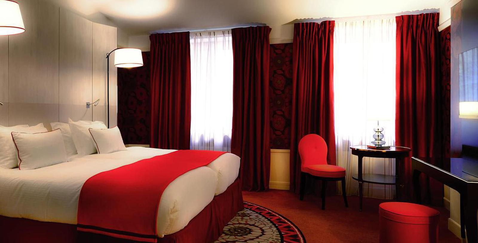 Image of Guestroom Interior Hôtel Carlton Lyon - MGallery by Sofitel, 1894, Member of Historic Hotels Worldwide, in Lyon, France, Accommodations