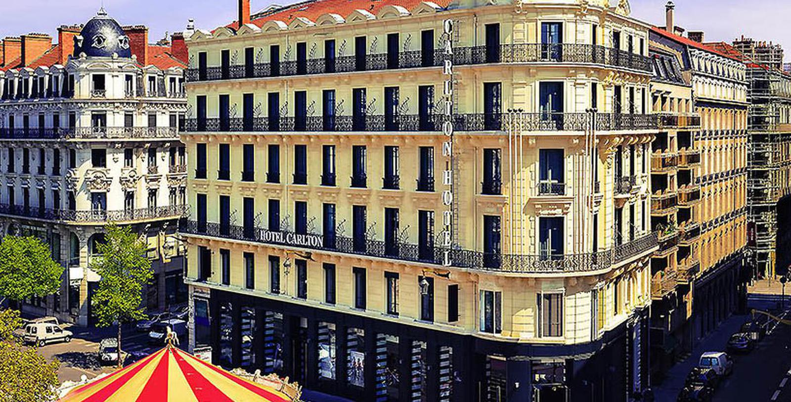 Image of Hotel Exterior Hôtel Carlton Lyon - MGallery by Sofitel, 1894, Member of Historic Hotels Worldwide, in Lyon, France, Special Offers, Discounted Rates, Families, Romantic Escape, Honeymoons, Anniversaries, Reunions