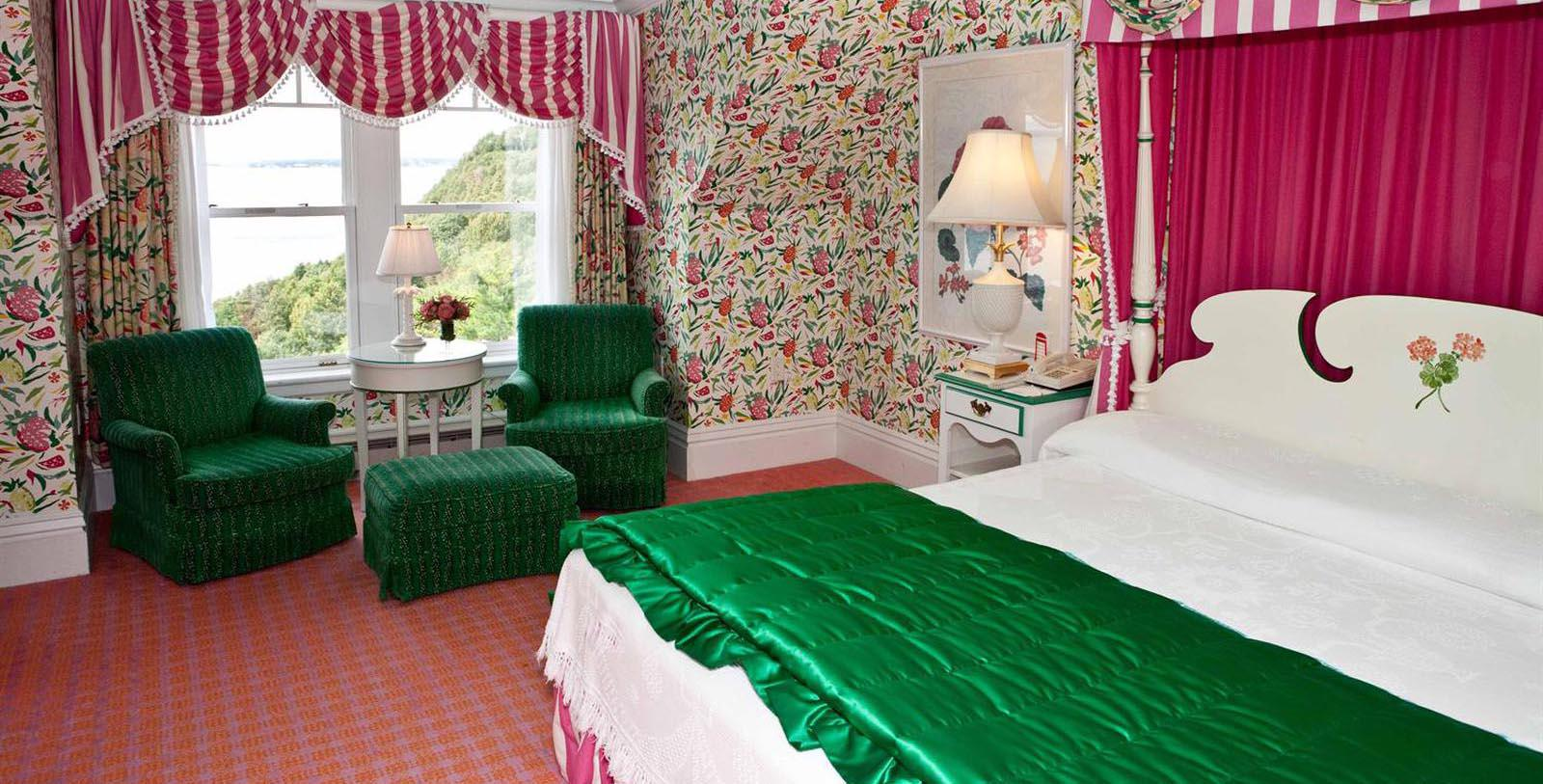 Image of Guestroom at Grand Hotel, 1887, Member of Historic Hotels of America, in Mackinac Island, Michigan, Location Map