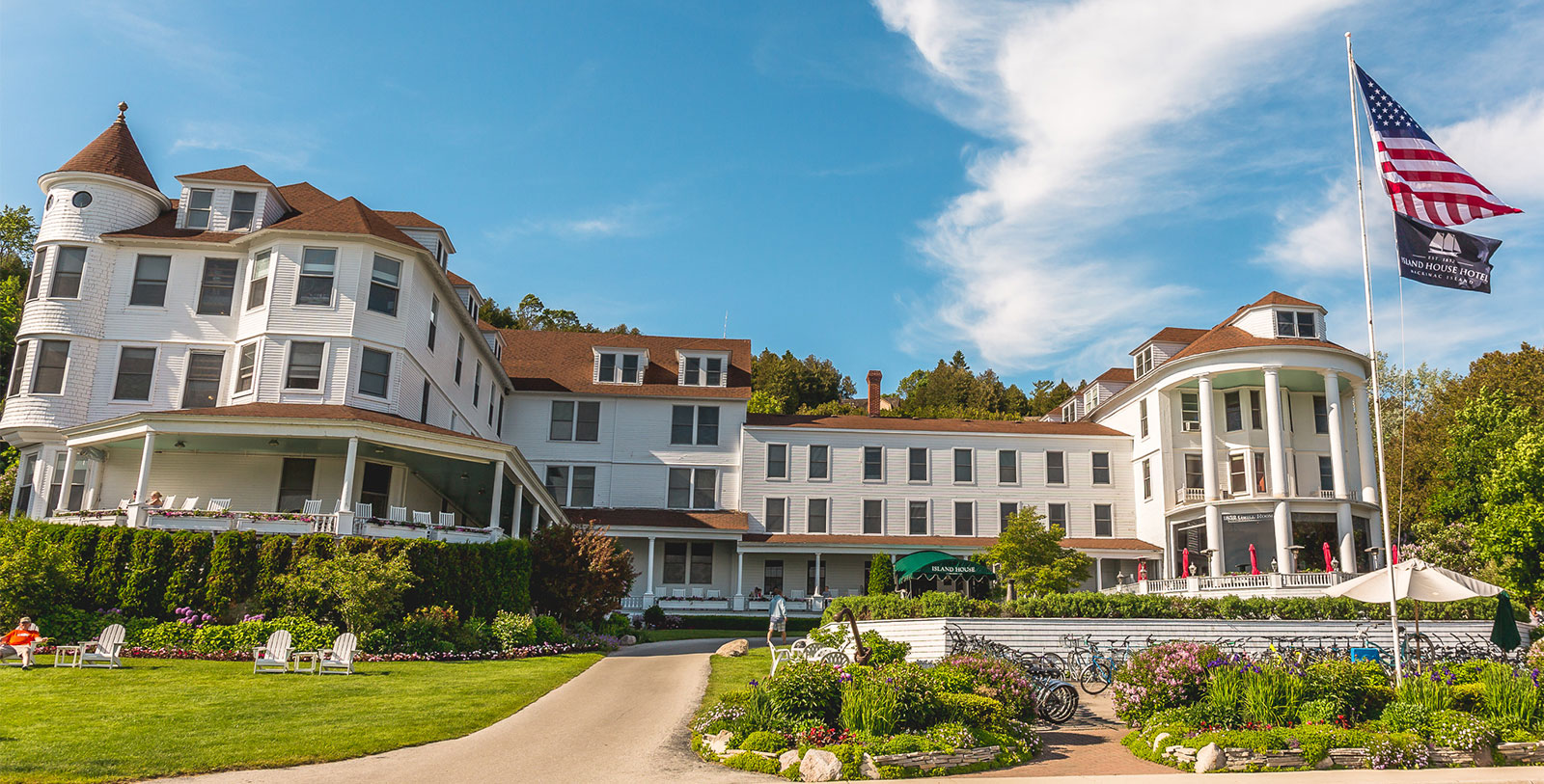 Image of Exterior and, Island House Hotel in Mackinac Island, Michigan, 1852Member of Historic Hotels of America, Overview