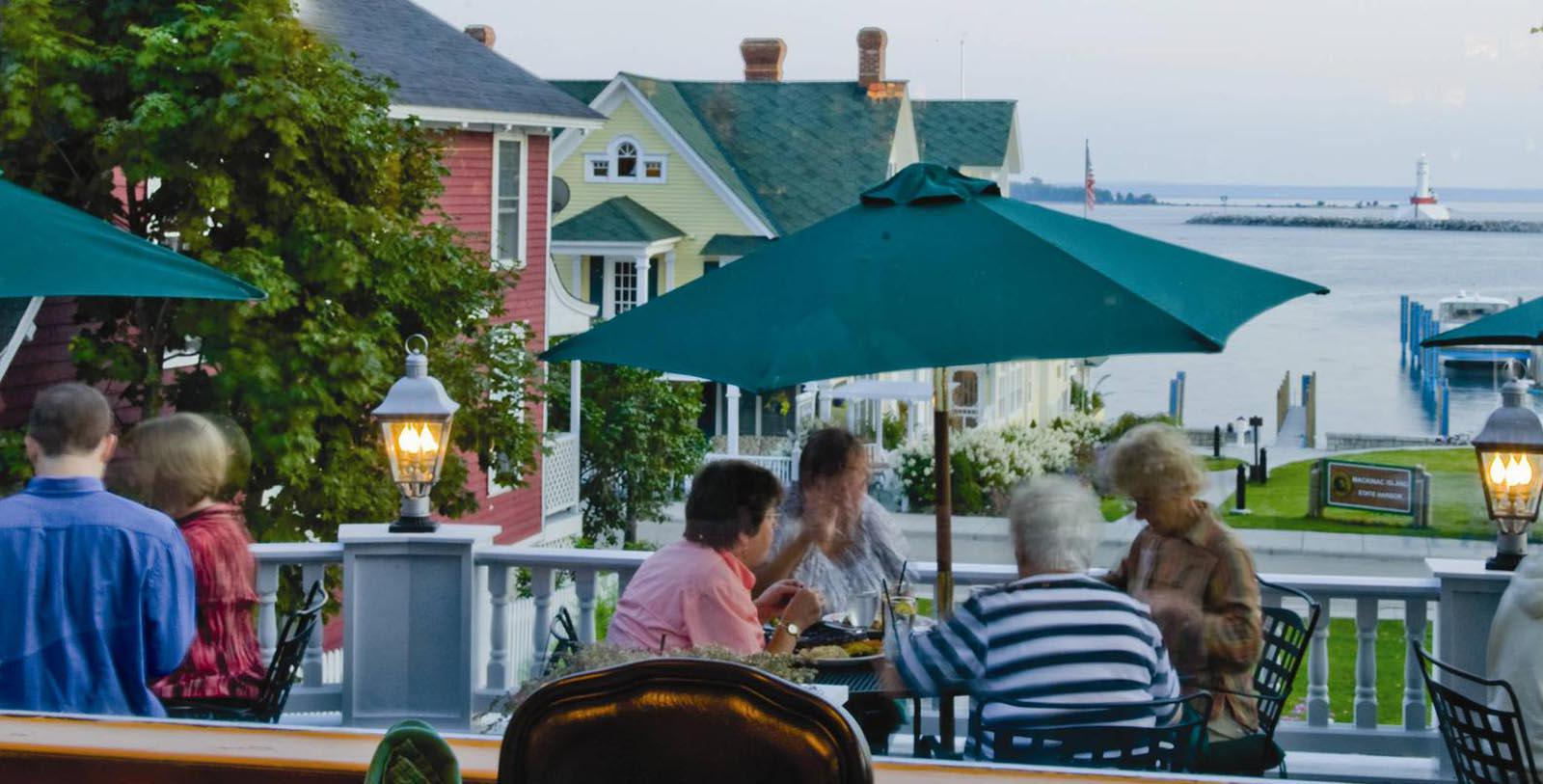 Image of 1852 Grill Room Patio, Island House Hotel in Mackinac Island, Michigan, 1852, Member of Historic Hotels of America, Taste