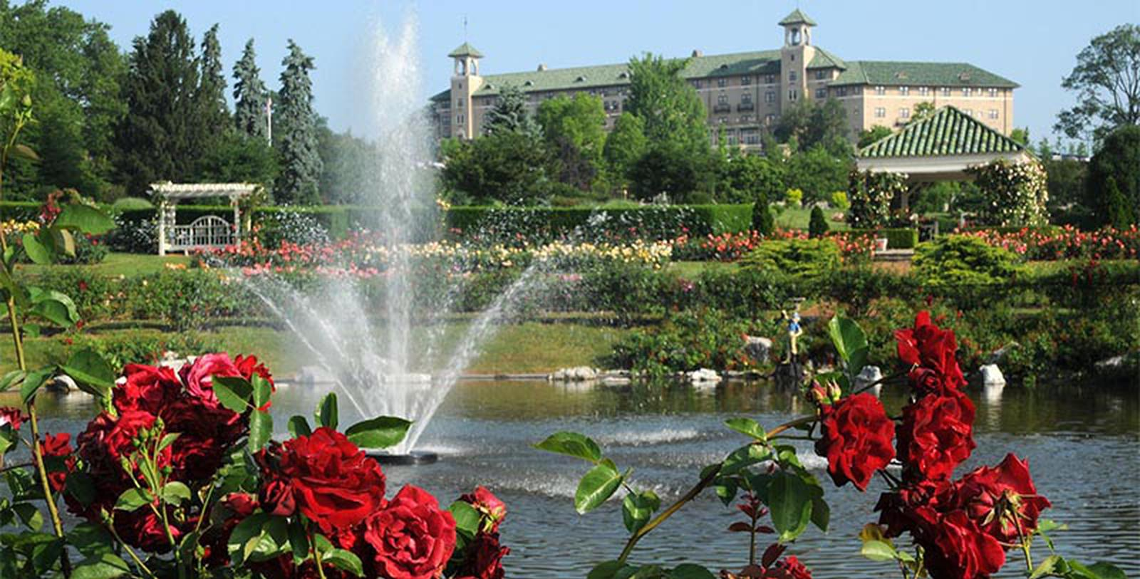 Image of Garden with Fountain The Hotel Hershey®, 1933, Member of Historic Hotels of America, in Hershey, Pennsylvania, Explore