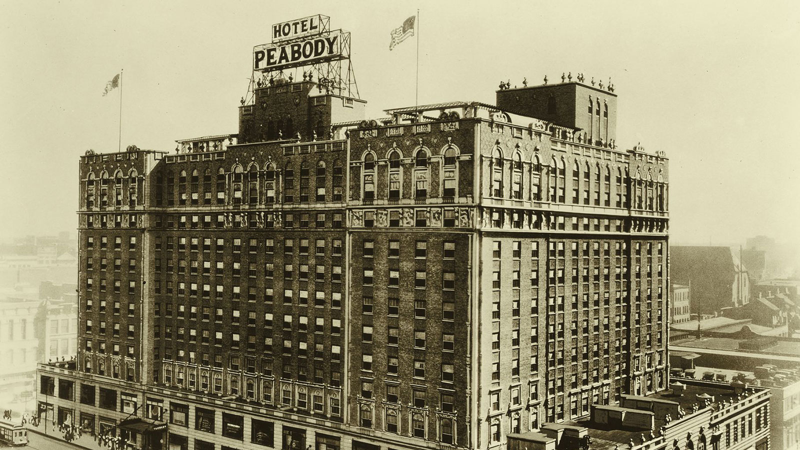 Image of Hotel Exterior The Peabody Memphis, 1869, Member of Historic Hotels of America, in Memphis, Tennessee, History