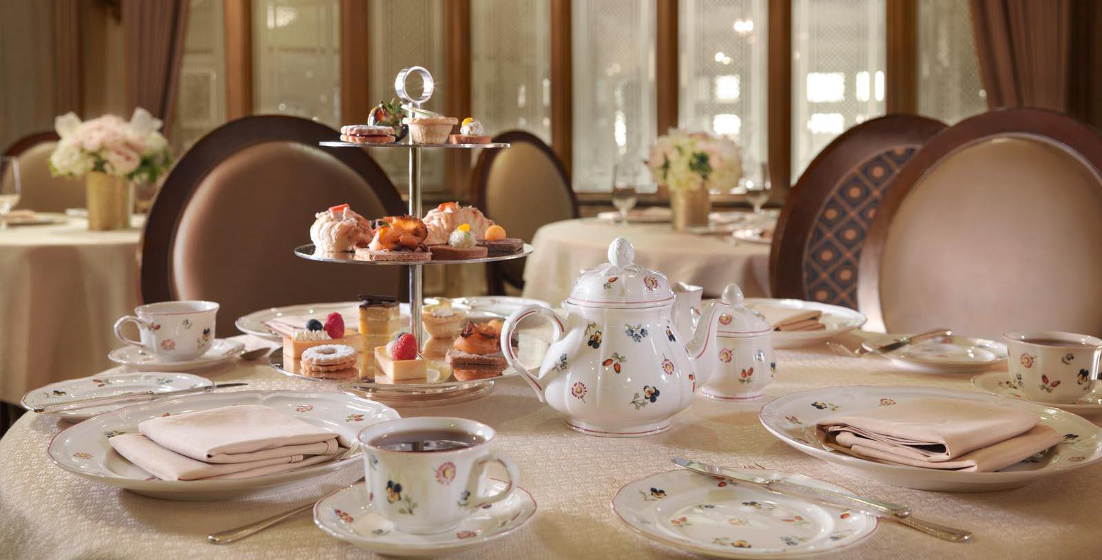 Image of Afternoon Tea Served in Chez Philippe at The Peabody Memphis, 1869, Member of Historic Hotels of America, in Memphis, Tennessee, Taste