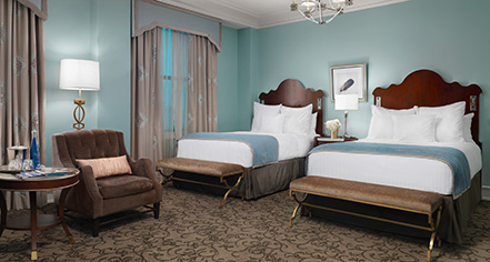 Accommodations:      The Peabody Memphis  in Memphis