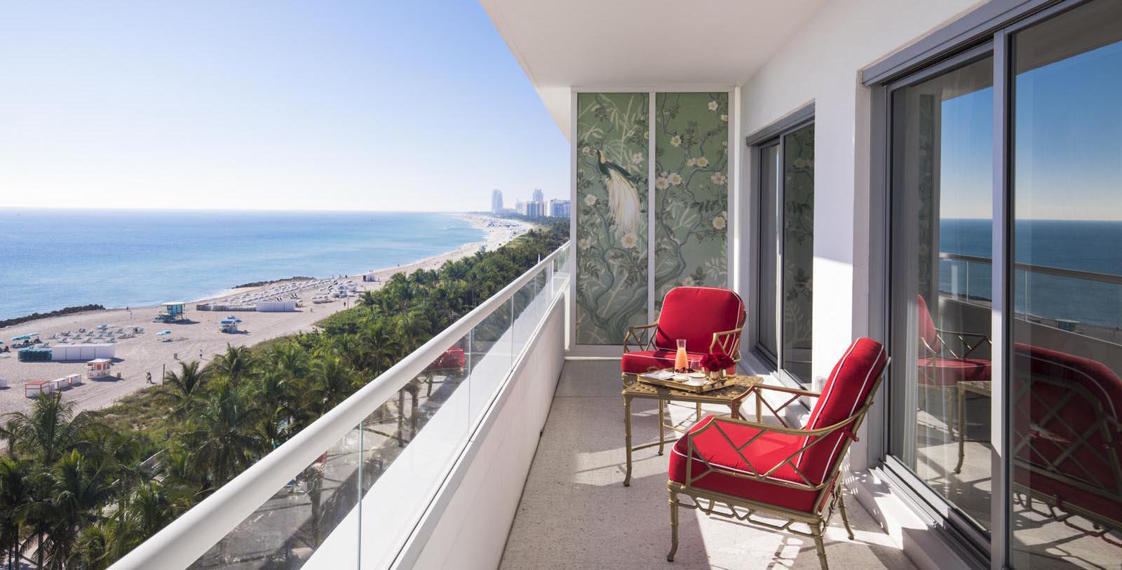 Image of balcony ouside guestroom at Casa Faena, 1928, Member of Historic Hotels of America, in Miami Beach, Florida, Hot Deals