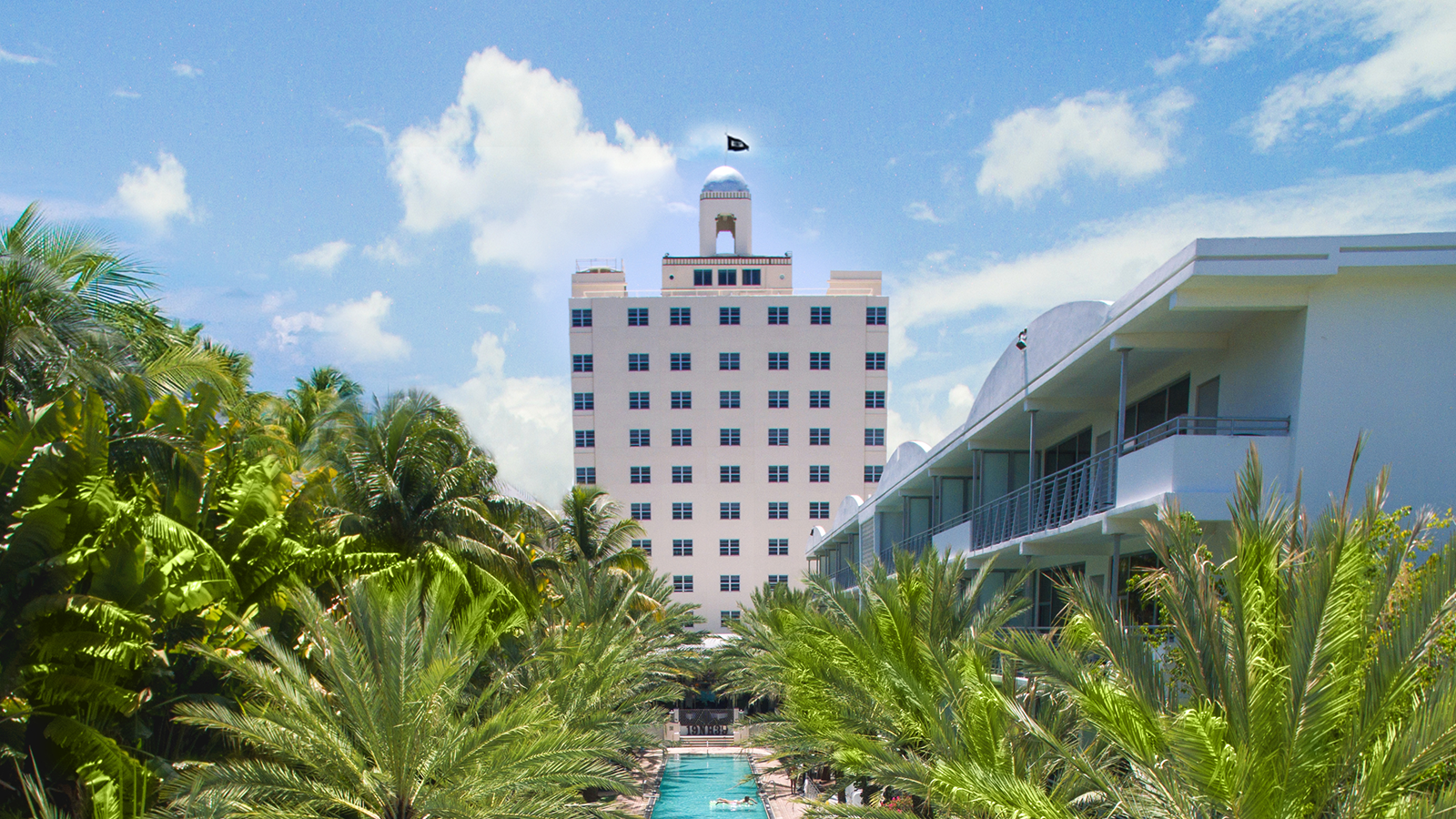Image of Hotel Exterior The National Hotel, 1939, Member of Historic Hotels of America, in Miami Beach, Florida, Overview