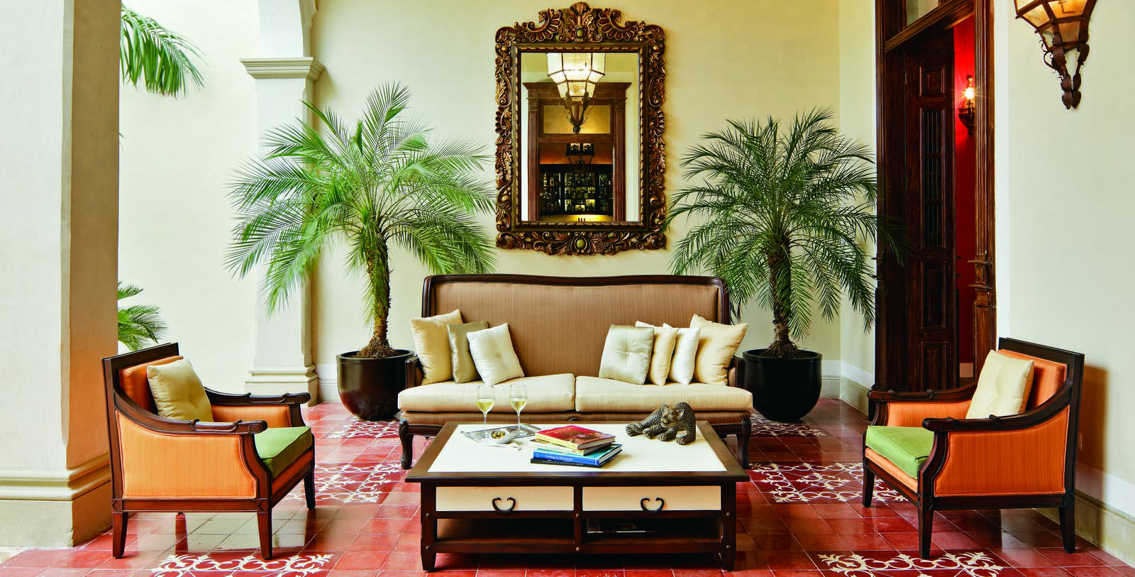 Image of lobby lounge seating area Casa Lecanda, 1900s, Member of Historic Hotels Worldwide, in Merida, Mexico, Discover