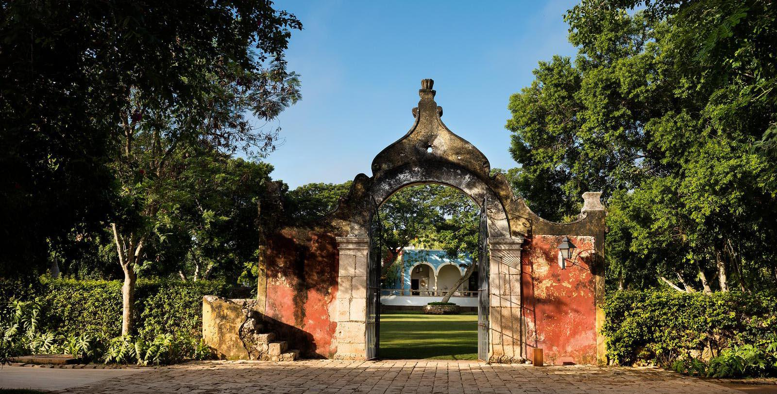 Image of hotel exterior gate Chablé Resort & Spa, 1650, Member of Historic Hotels Worldwide, in Chocholá, Mexico, Discover