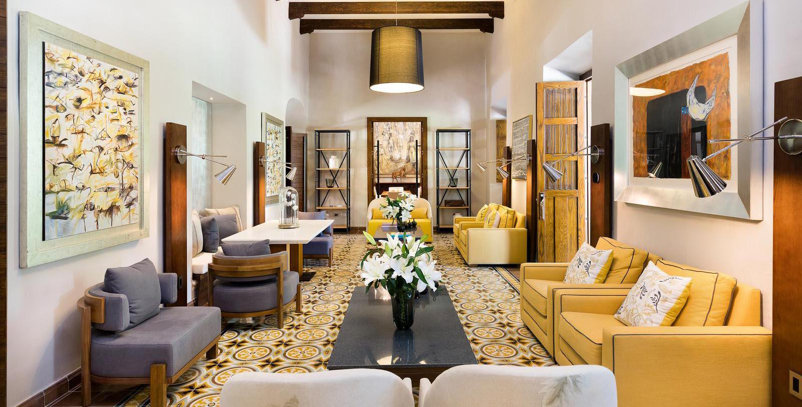 Image of lobby lounge Chablé Resort & Spa, 1650, Member of Historic Hotels Worldwide, in Chocholá, Mexico, Experience