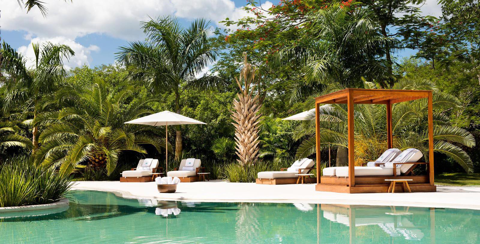 Image of pool area Chablé Resort & Spa, 1650, Member of Historic Hotels Worldwide, in Chocholá, Mexico, Explore