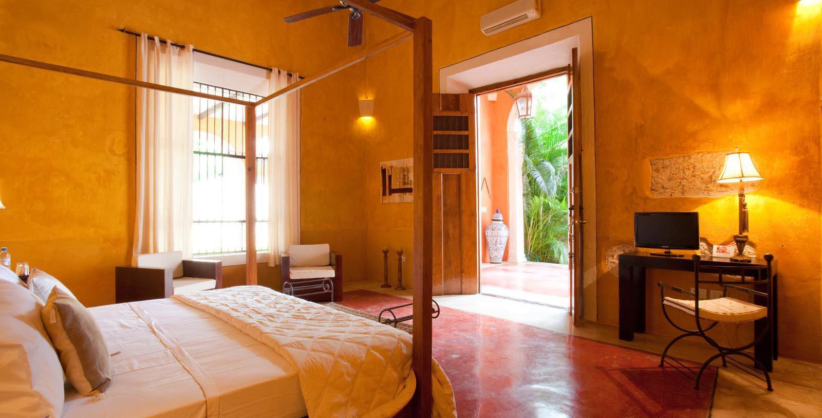Image Guestroom Interiorof Hotel Hacienda Merida, Mexico, 1700s, Member of Historic Hotels Worldwide, Location Map