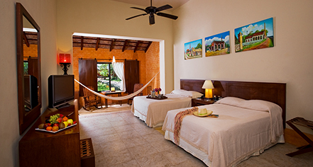 Accommodations:      Hacienda Misne  in Merida