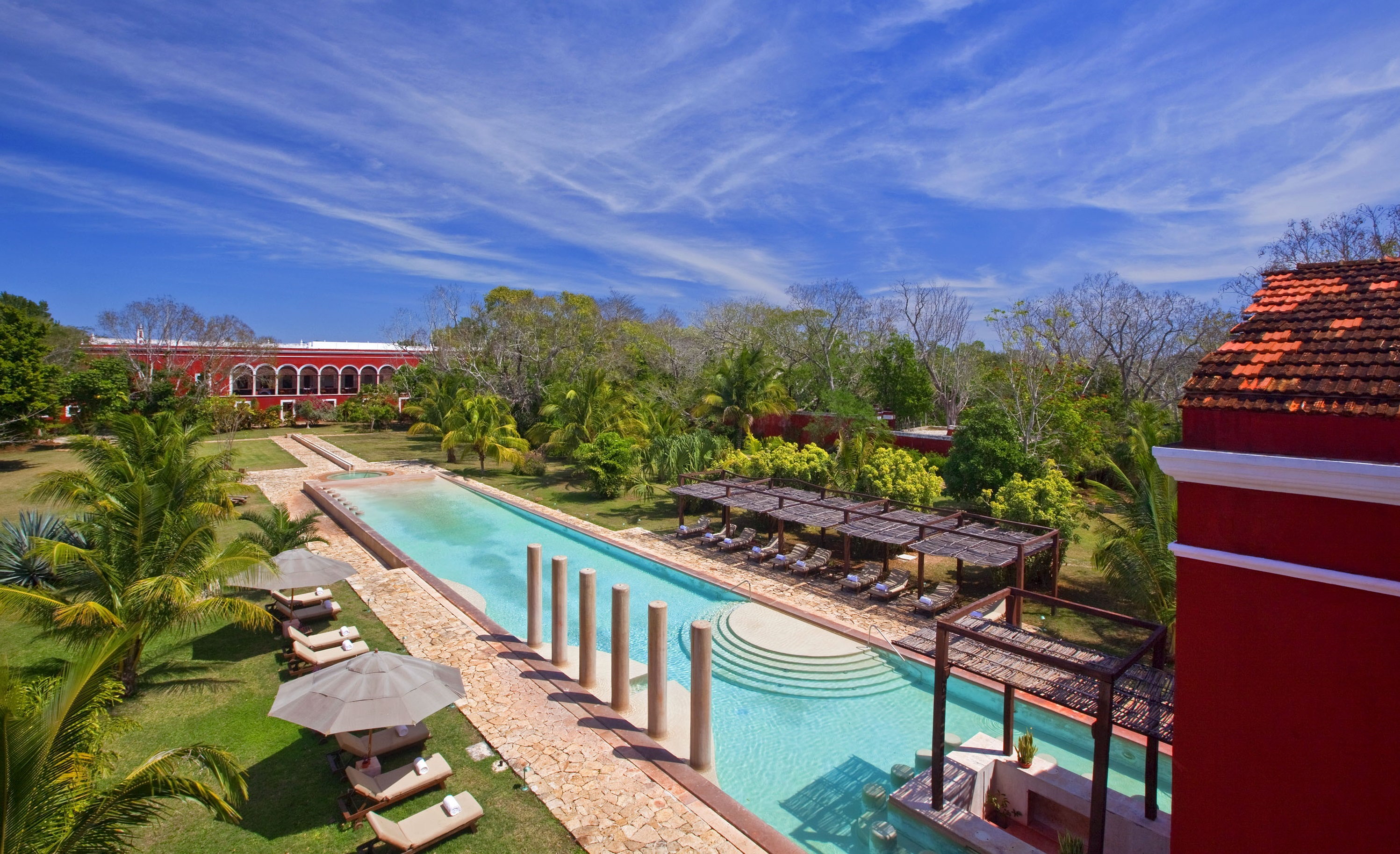 Discover the Spanish Colonial architecture of this vacation retreat.