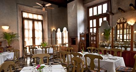Dining at      Hacienda Xcanatún  in Merida
