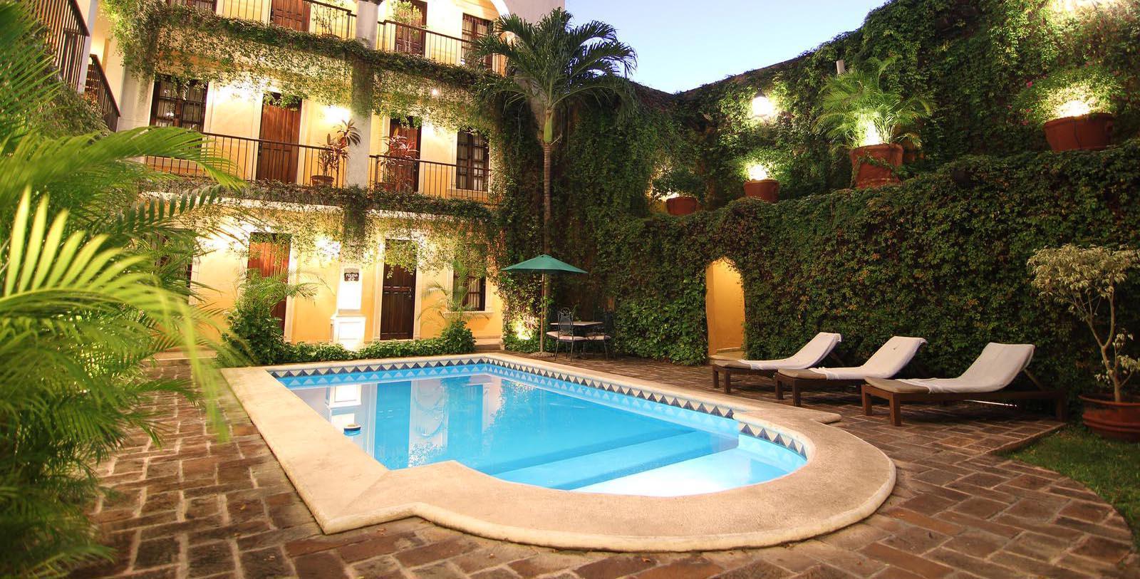 Image of Pool La Misión de Fray Diego, 1867 Member of Historic Hotels Worldwide, in Merida, Mexico, Hot Deals