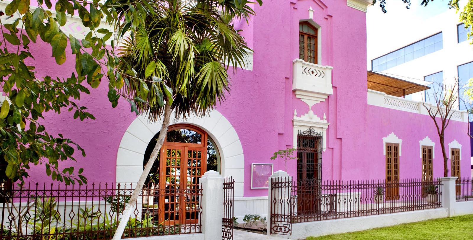 Image of Hotel Front Entrance at Rosas & Xocolate Boutique Hotel, 1909, Member of Historic Hotels Worldwide, in Merida, Yucatan, Mexico, Overview