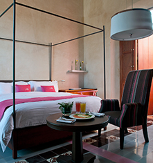 Accommodations:      Rosas & Xocolate Boutique Hotel  in Merida