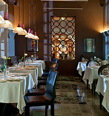 Dining at      Rosas & Xocolate Boutique Hotel  in Merida