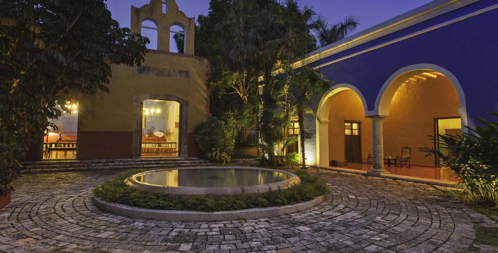 Image of Exterior Courtyard, Hacienda San Jose, A Luxury Collection Hotel, Tixkokob, Mexico, 1800, Member of Historic Hotels Worldwide, Special Offers, Discounted Rates, Families, Romantic Escape, Honeymoons, Anniversaries, Reunions