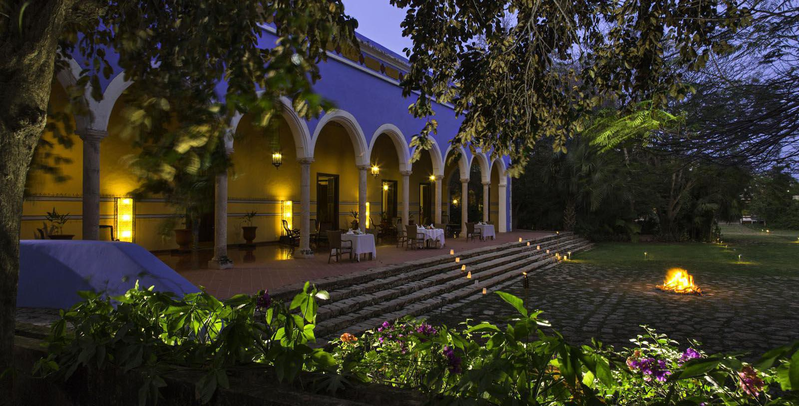 Image of Exterior at Night, Hacienda Santa Rosa, A Luxury Collection Hotel, Santa Rosa, Mexico, 1897, Member of Historic Hotels Worldwide, Experience