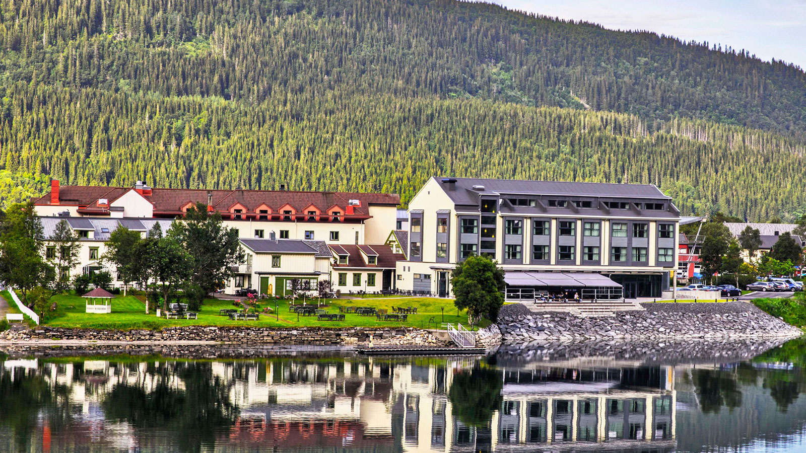Image of Hotel Exterior, Fru Haugans Hotel, Mosjoen, Norway, 1794, Member of Historic Hotels Worldwide, Overview