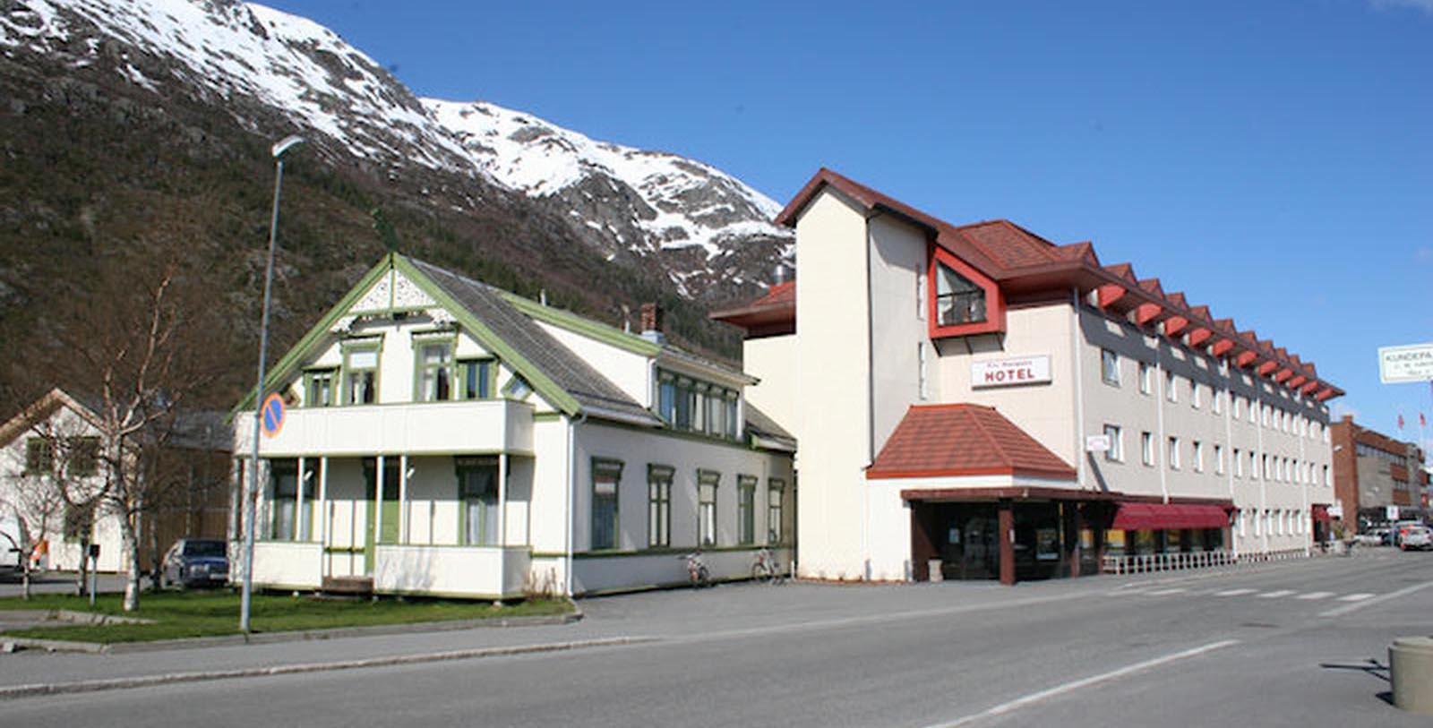Image of Hotel Exterior, Fru Haugans Hotel, Mosjoen, Norway, 1794, Member of Historic Hotels Worldwide, Special Offers, Discounted Rates, Families, Romantic Escape, Honeymoons, Anniversaries, Reunions