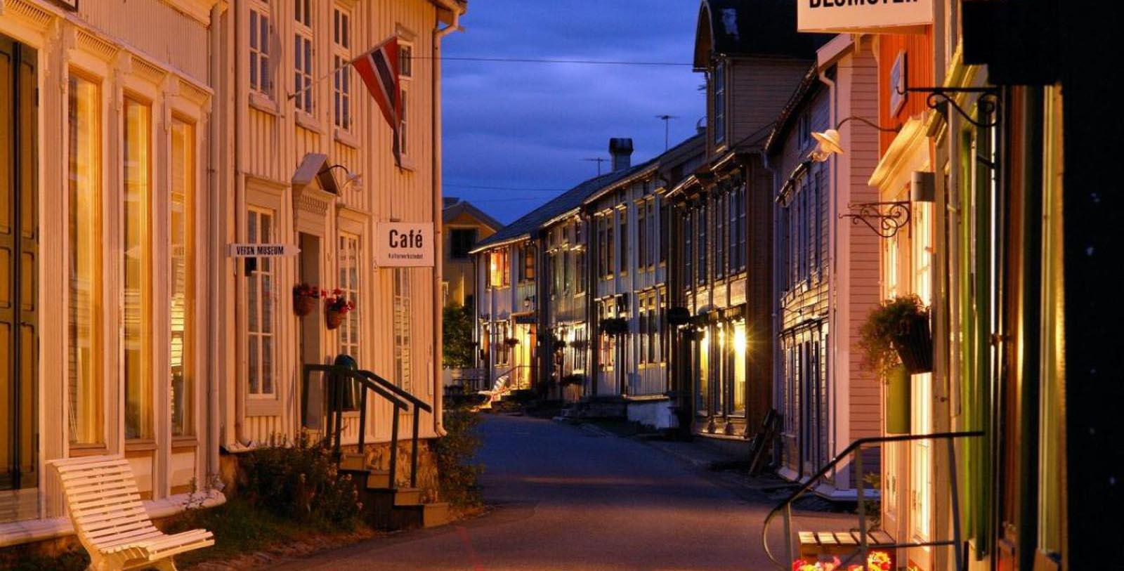Image of Exterior and Street, Fru Haugans Hotel, Mosjoen, Norway, 1794, Member of Historic Hotels Worldwide, Discover