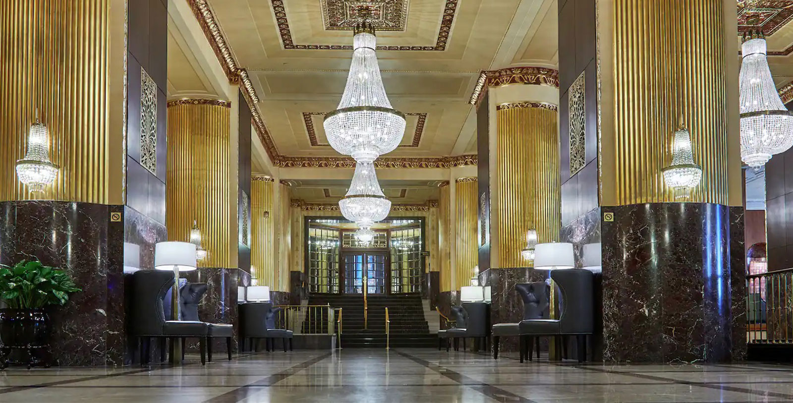 Image of hotel lobby, Hilton Milwaukee City Center, 1928, Member of Historic Hotels of America, in Milwaukee, Wisconsin, Overview