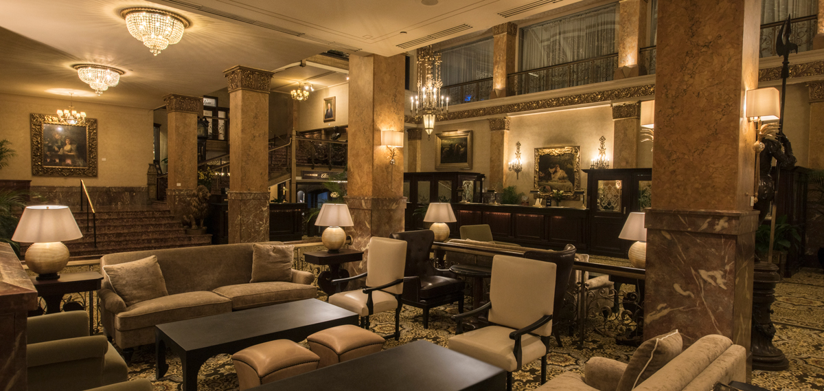 Activities:      The Pfister Hotel  in Milwaukee
