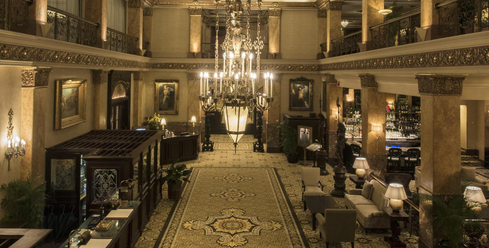 Image of Hotel Lobby at The Pfister Hotel, 1893, Member of Historic Hotels of America, in Milwaukee, Wisconsin, Discover