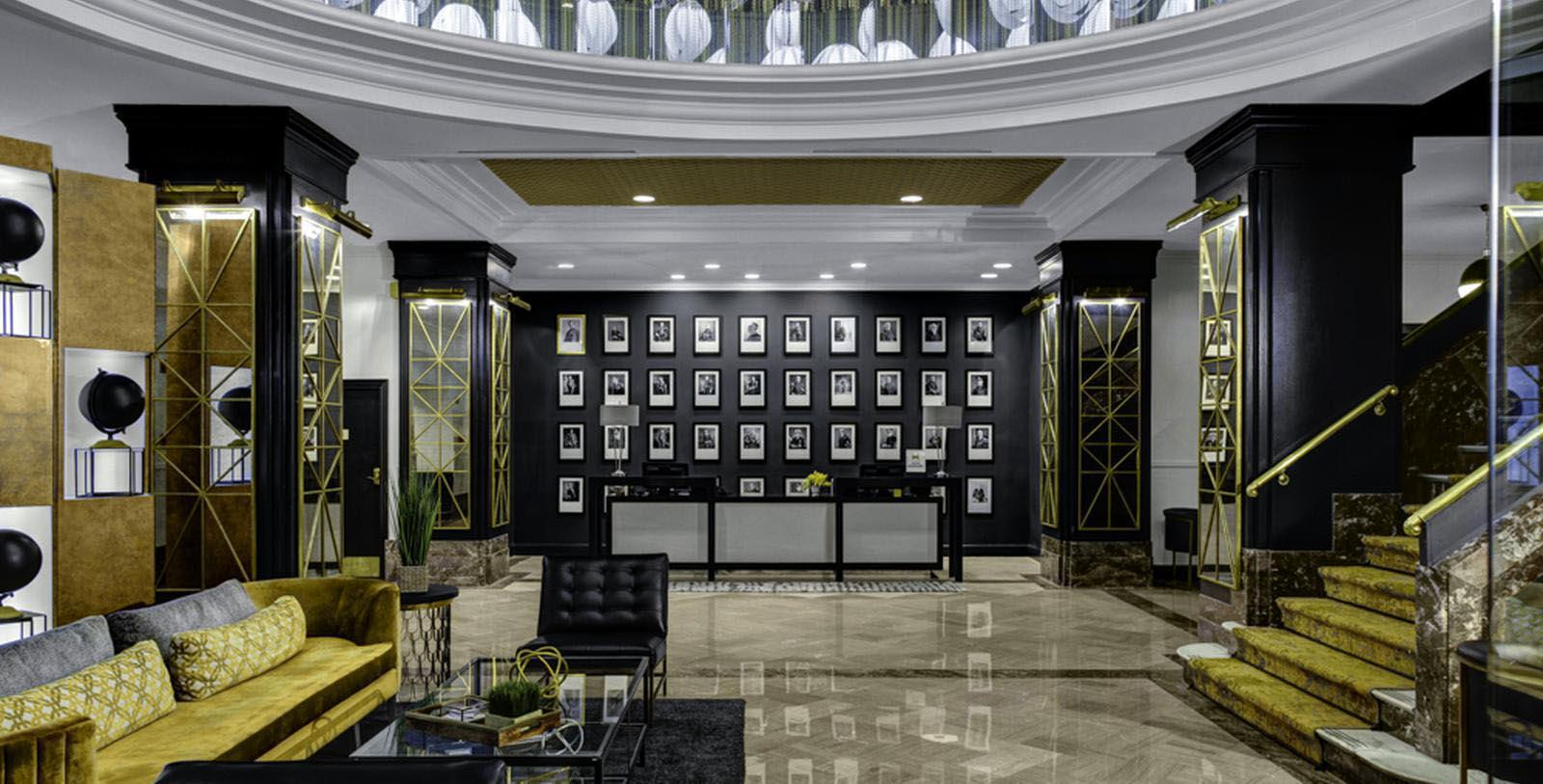 Image of Lobby The Admiral Hotel, 1940, Member of Historic Hotels of America, in Mobile, Alabama, Hot Deals