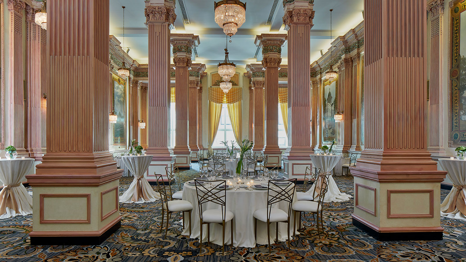 Image of function space set up for wedding at Battle House Renaissance Mobile Hotel & Spa, 1852, Member of Historic Hotels of America, in Mobile, Alabama, Special Occasions