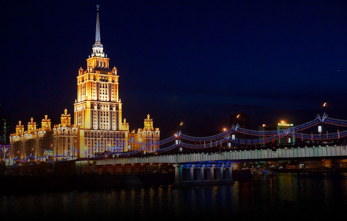 Accommodations:      Ukraina Hotel  in Moscow