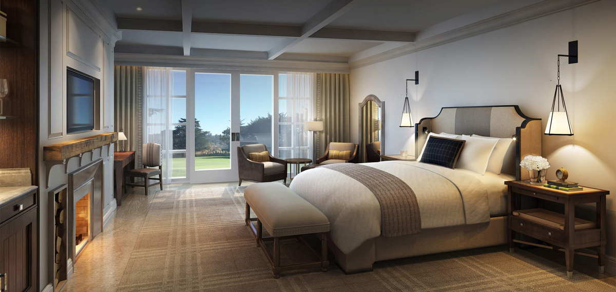 Accommodations:      The Lodge at Pebble Beach  in Pebble Beach