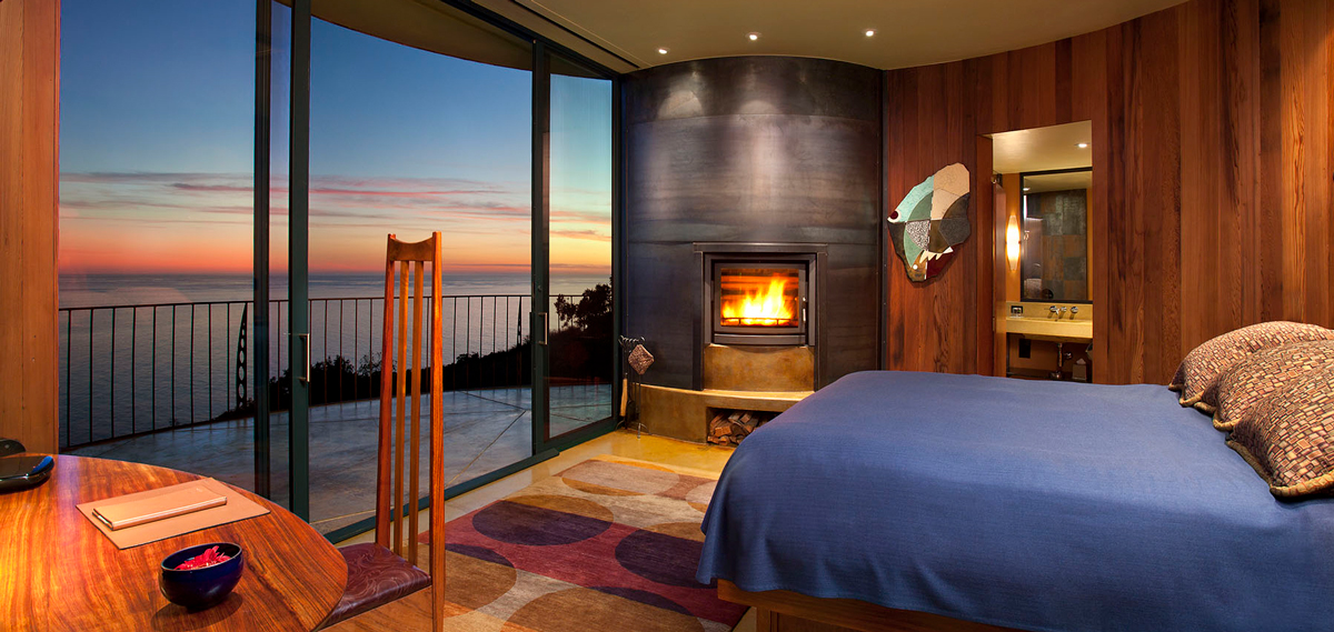Accommodations:      Post Ranch Inn  in Big Sur