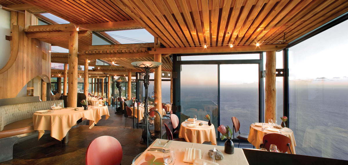 Dining:      Post Ranch Inn  in Big Sur