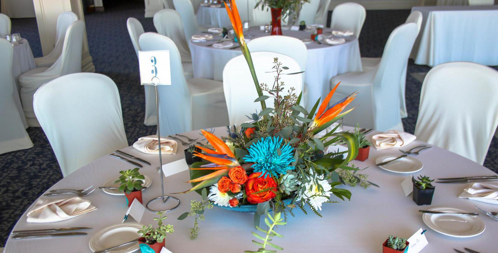Image of Flower Arrangement on Table St. James Hotel, 1875, Member of Historic Hotels of America, in Red Wing, Minnesota, Experience