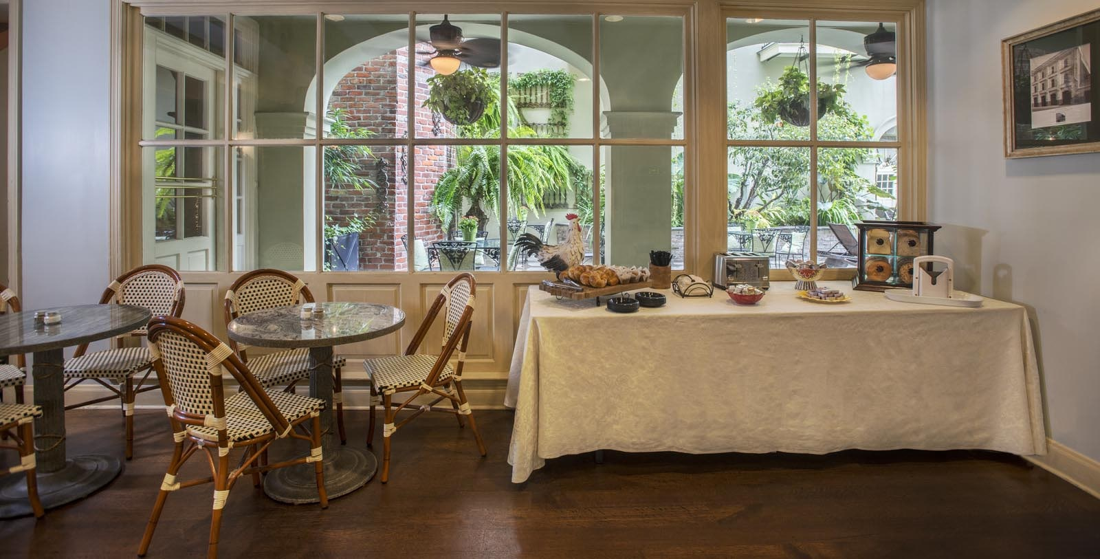 Image of breakfast served at Latitude 29 Restaurant at Bienville House, 1835, Member of Historic Hotels of America, in New Orleans, Louisiana, Taste